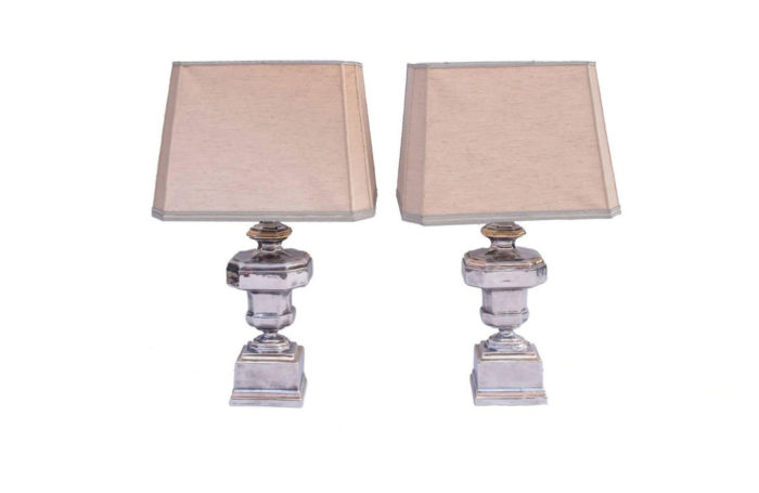 silvered porcelain lamps