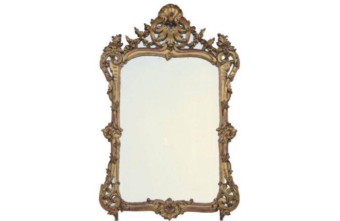 miroir bois dore louis xv