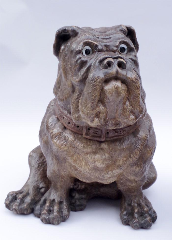 Paire de chiens bouledogue céramique XIXe seul