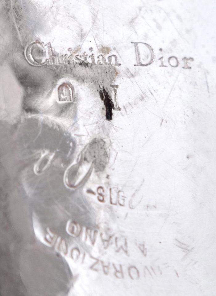christian dior rafraîchissoir métal argenté marque