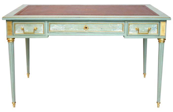 celadon louis XVI desk landscapes