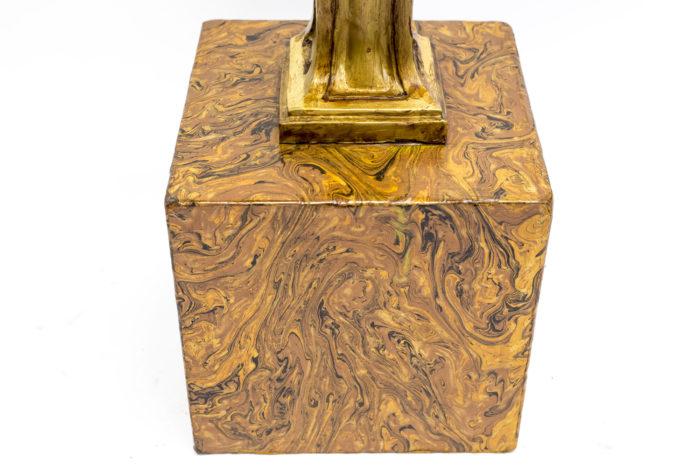 consoles putti marbre papier marbré base
