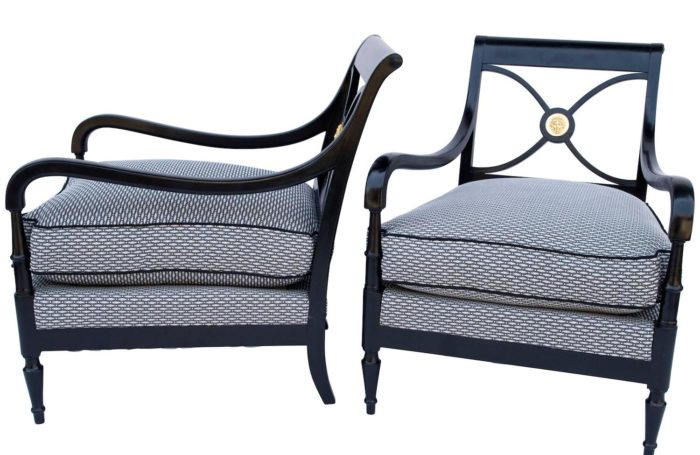 Maison jansen empire armchairs