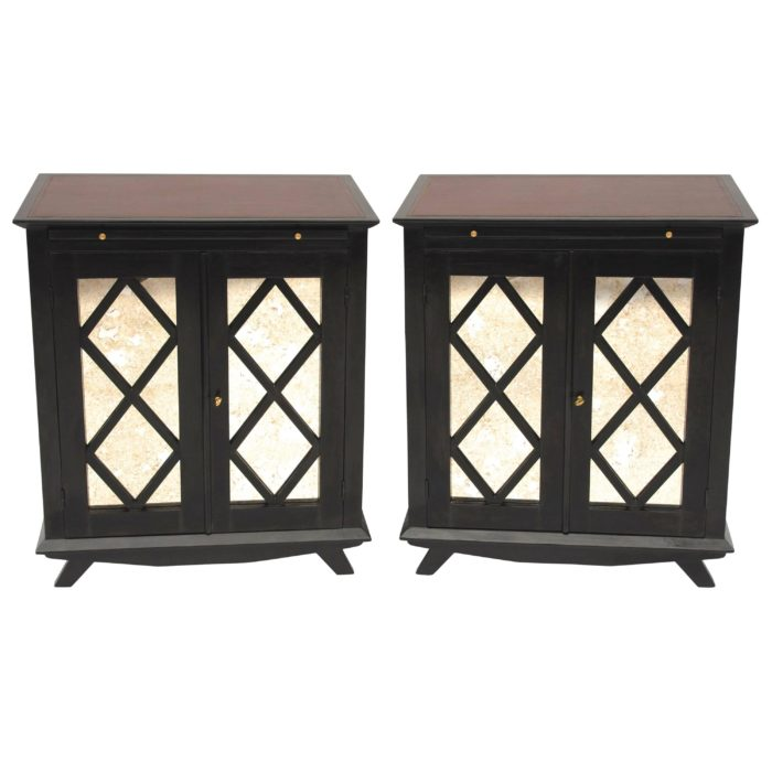 black lacquered sideboards