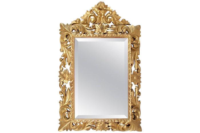 miroir louis XIII bois doré