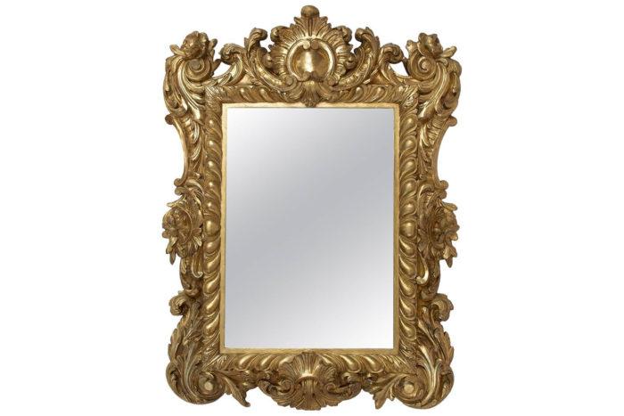 miroir régence bois doré