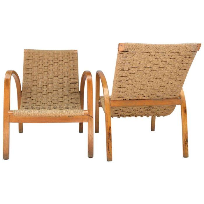 fauteuil corde hetre blond scandinave