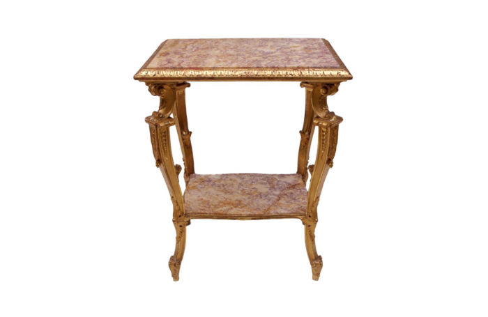 gilt wood marble table