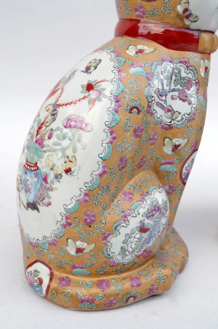 chats porcelaine canton cote