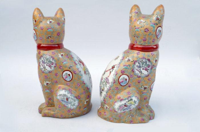 chats porcelaine canton dos 2