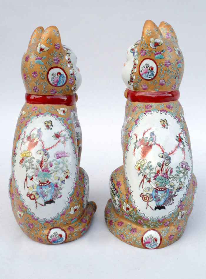 chats porcelaine canton dos