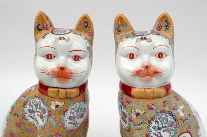 chats porcelaine canton zoom