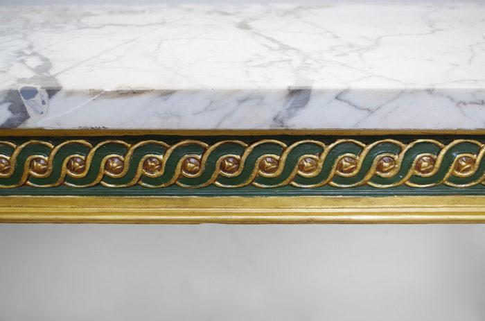 console louis XVI entrelacs detail
