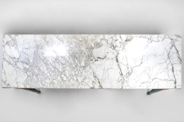 console louis XVI entrelacs marbre