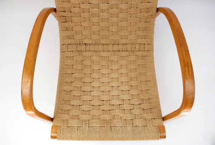 fauteuil corde design scandinave assise