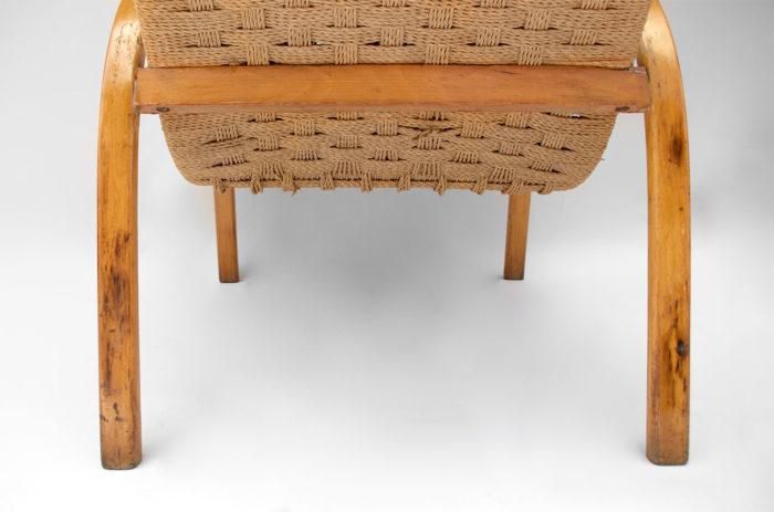 fauteuil corde design scandinave bas