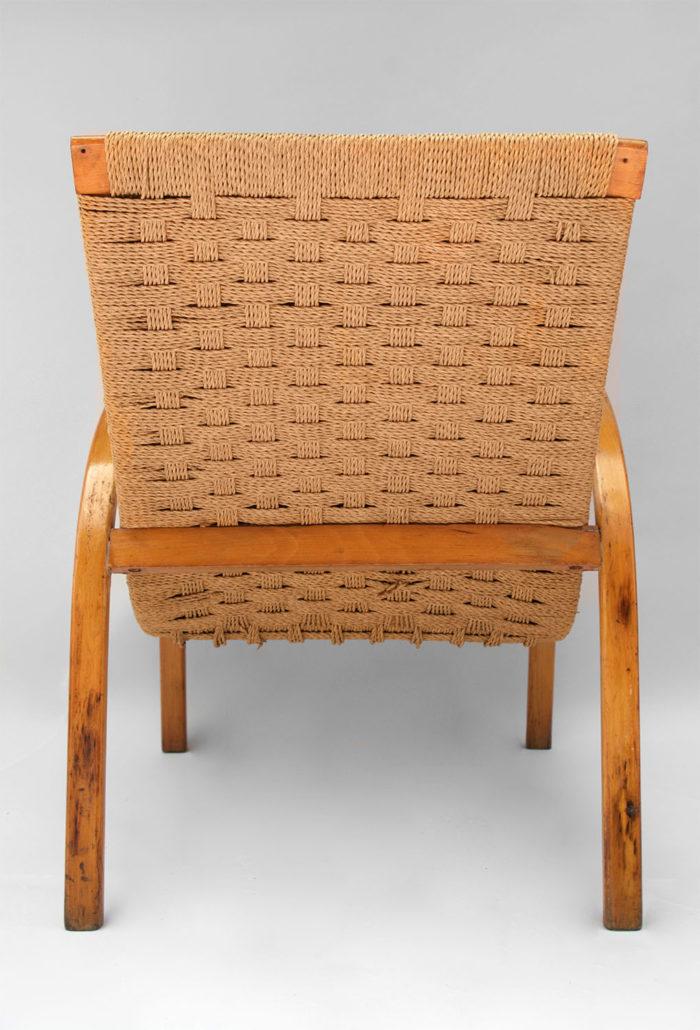 fauteuil corde design scandinave dos