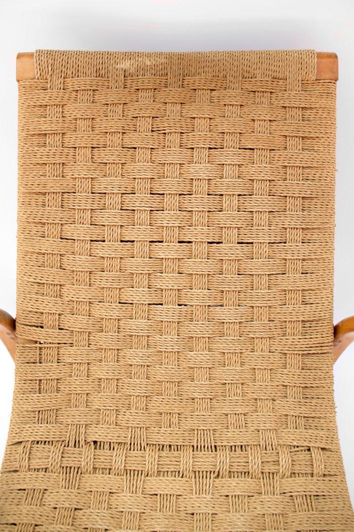 fauteuil corde design scandinave dossier