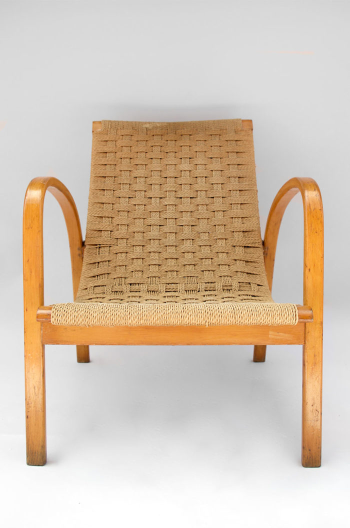 fauteuil corde design scandinave face