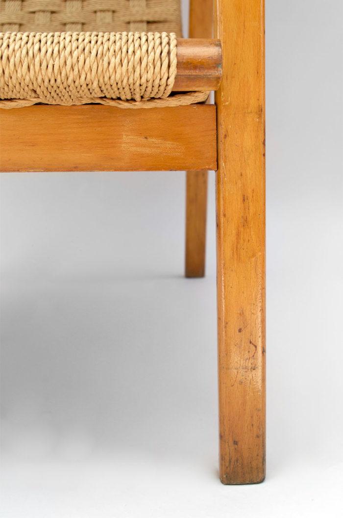 fauteuil corde design scandinave pied
