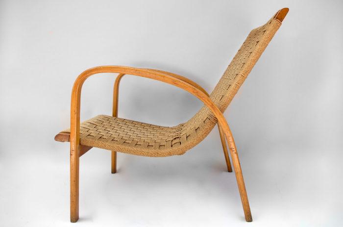 fauteuil corde design scandinave profil 2