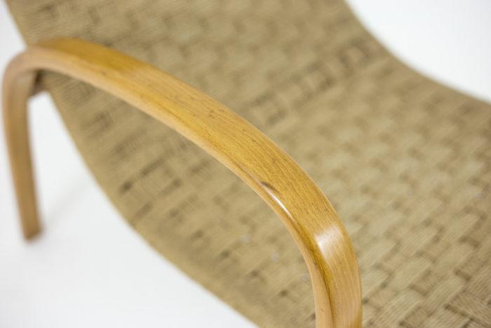 fauteuils corde hêtre blond accotoir détail