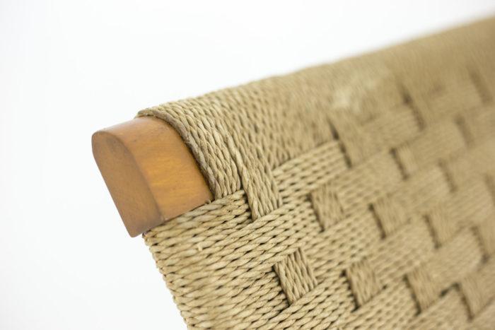 fauteuils corde hêtre blond détail