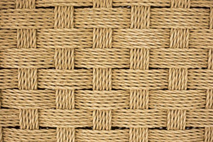 fauteuils corde hêtre blond détail corde