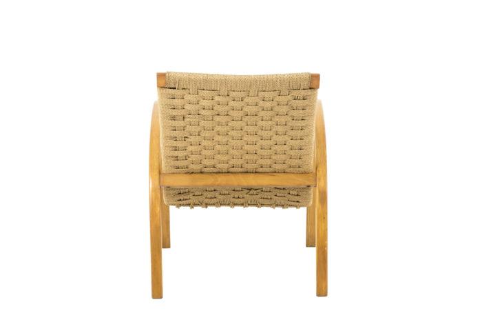 fauteuils corde hêtre blond design scandinave back
