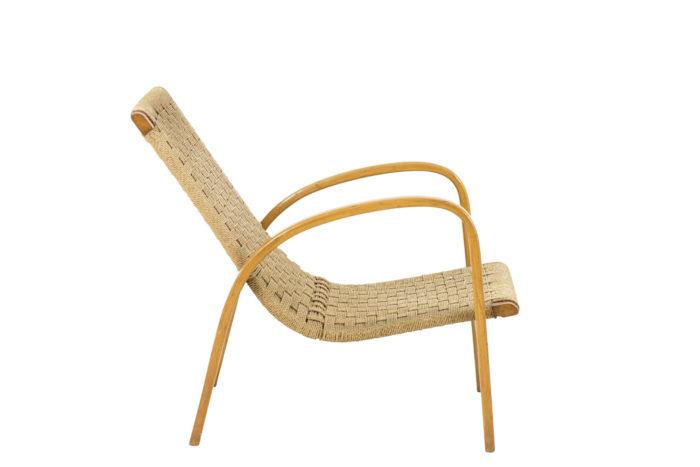 fauteuils corde hêtre blond design scandinave side