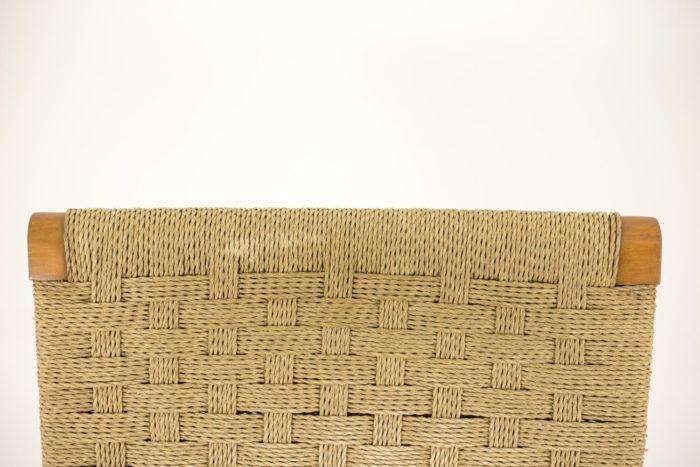 fauteuils corde hêtre blond dossier