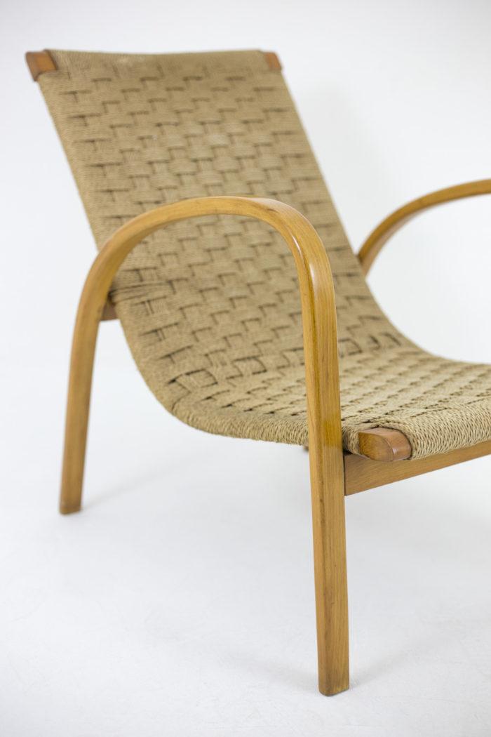 fauteuils corde hêtre blond pied