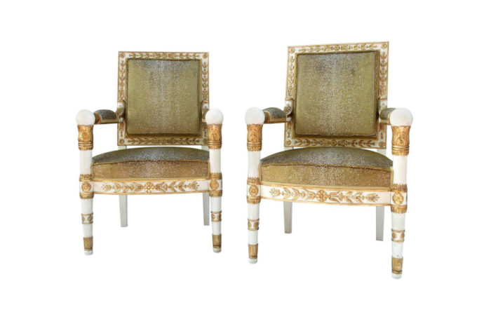 empire style armchairs