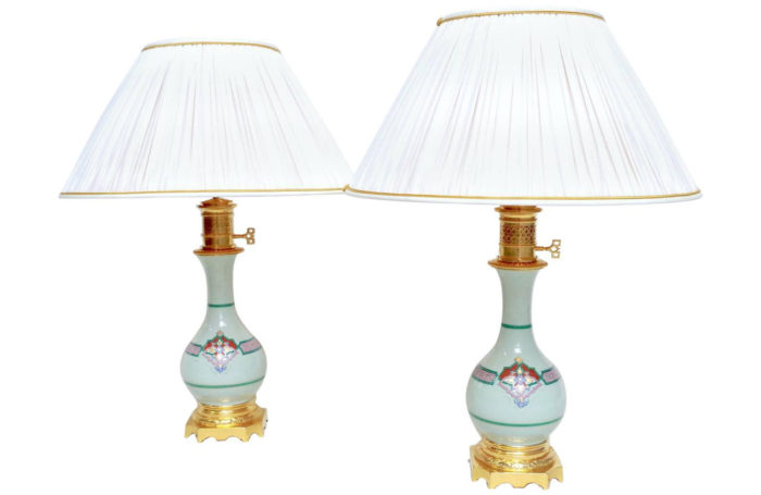 celadon lamp bottle shaped