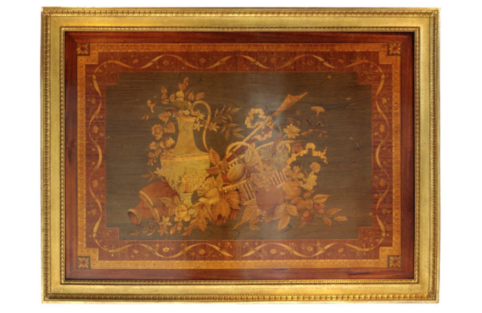 riesener marquetry panel wood