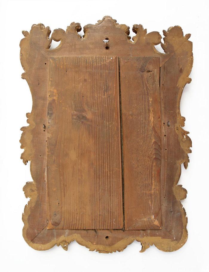 miroir bois doré regence angles