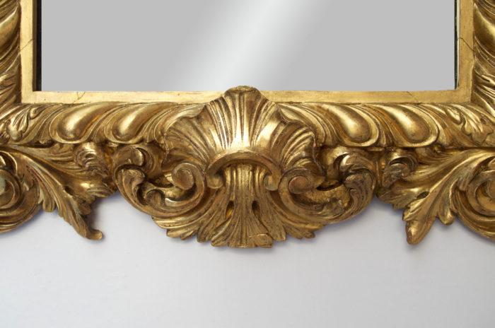 miroir bois doré coquille