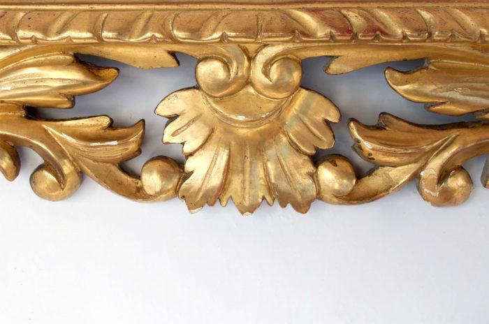 miroir bois dore style louis xiii angle