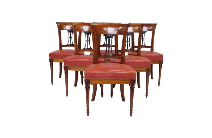 six chaises acajou directoire