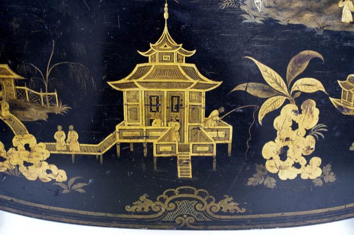 table abattant laque noire pagode etail 2