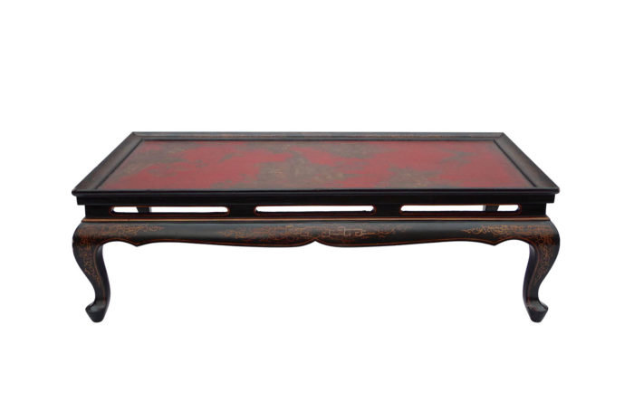red lacquer coffee table
