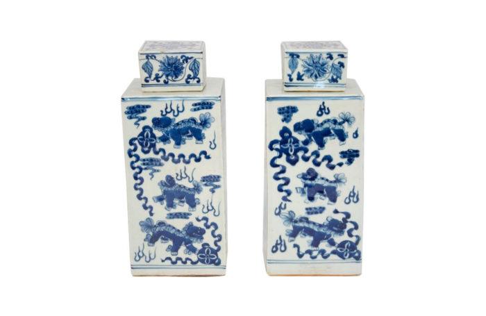 pot faïence chinoise bleu blanc