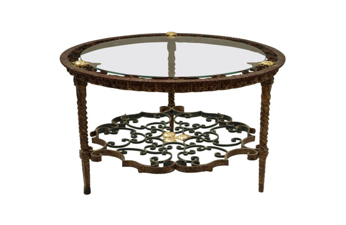 wrought iron italian table