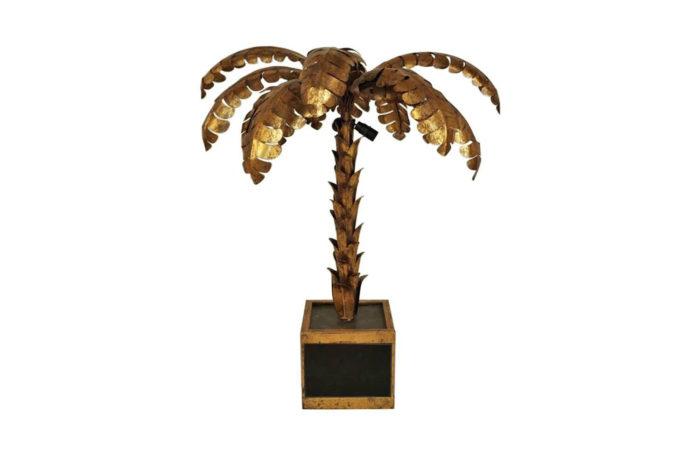 lampe palmier laiton doré