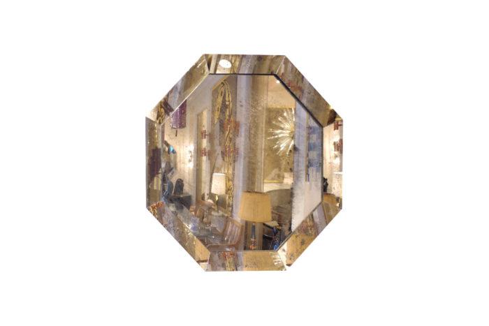 miroir octogonal oxydé