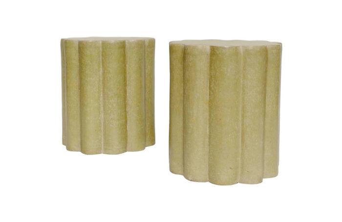 paire tabourets papier maché