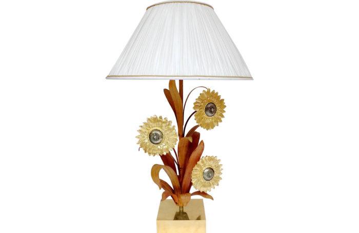 lampe laiton bronze doré tournesols