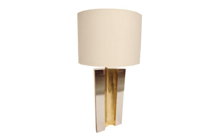 lampe laiton doré argenté
