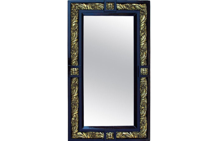wood stucco Louis XVI mirror 1900