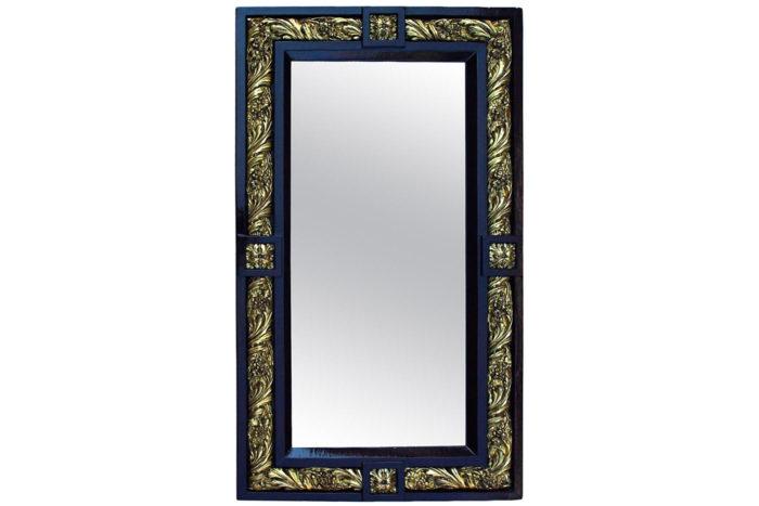miroir louis XVI 1900 stuc bois